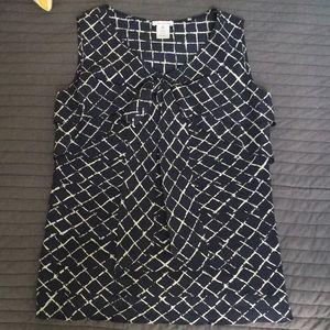Oscar de la Renta sleeveless silk blouse